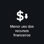 Menor uso dos recursos financeiros