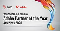 Selo do prêmio de parceiro América Adobe do ano 2020