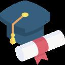 Cap e certificado de formatura