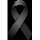 Laço preto representando luto