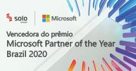 Selo do prêmio de parceiro Microsoft do ano 2020