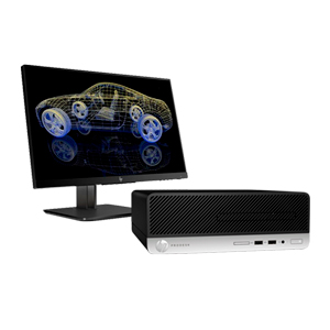 BUNDLE HP Prodesk 400 G5 SFF INTEL 8500 8Gen  + Monitor + No-Break + Office 365 + Anti Vírus